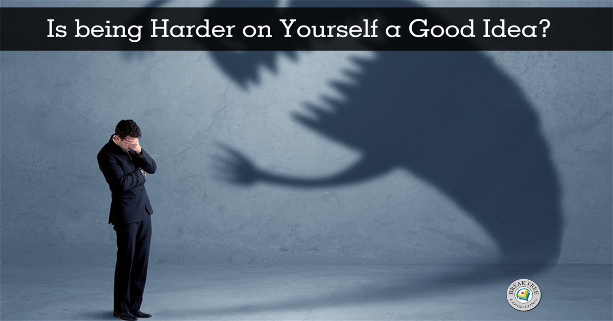 Is being harder on yourself than others a good idea?
